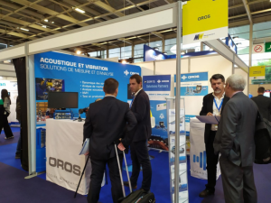OROS noise and vibration testing and analysis solutions displayed on our booth at Measurement World in Paris